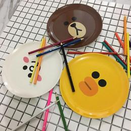 Melamine plate онлайн-Детские блюда взрослых детская посуда детское питание дополнение мультфильм меламин тарелки посуда пищевой посуда фото реквизит дети блюдо