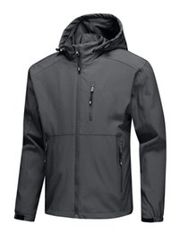 Wholesale 3xl north face - 2018 Men's HOODED Fleece Apex Bionic north Jackets SoftShell Jacket Fashion Outdoor Windproof Waterproof Climbing face outwear 1699