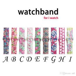 2019 relógios de luxo Novas bandas para apple watch bandas de substituição lilly inspirado Pulitzer Silicone 38mm 42mm Watch Band Straps pulseira de luxo para mulheres menina homens relógios de luxo barato