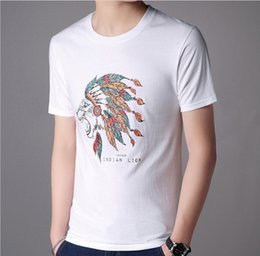 design shirts sell Coupons - Indian Men Tops High Quality Mens T-shirt Short Sleeved Lions Design Printed T-shirt For Men Hot Selling Size S-XL