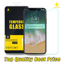 Wholesale plastic protectors - For Iphone 8 Plus iPhone X 7 iPhone 6Plus TopQuality BestPrice Tempered Glass Screen Protector 0.3MM 2.5D Plastic Packge