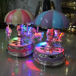 musikbox blinkt Rabatt Das Karussell Spieluhr Spieluhr Kuchen Dekoration Licht Blitz LED Riesenrad Spieluhr