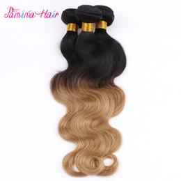 Ombre малайзийский волна тела 3 пучки малайзийский тела волнистые девственные волосы Ombre человеческих волос расширения два тона 1b 27 cheap wavy human hair extensions 26 от Поставщики волнистые наращивания человеческих волос 26