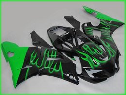 Wholesale Green R1 Fairings - 4 Free Gifts New fairings set fit for YAMAHA 1998 1999 YZF-R1 98 99 YZFR1 98 99 YZF R1 YZFR1000 ABS fairing Flame Green