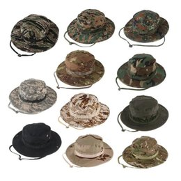 Wholesale dome round hat - Outdoor camouflage casual hat Penney hat foreign army tactical camouflage hunting fishing round hat free shopping