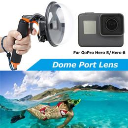 2019 caméras sous-marines en gros vente en gros plongée sous-marine dôme caméra sous-marine caméra lentille couverture pour GoPro héros 5/6 noir caméra couverture de photographie promotion caméras sous-marines en gros