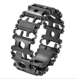 Équipement de survie en Ligne-EDC Outdoor Survival Bracelets avec 29 Fonctions Camping Randonnée En Plein Air Survie Gadgets Portant Bracelets Équipement En Acier Inoxydable DHL
