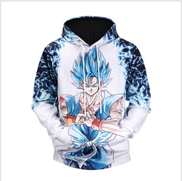 Wholesale 3d Sweaters - 2017 Autumn new men's 3D digital printing Dragon Ball Goku hooded sweater free shipping