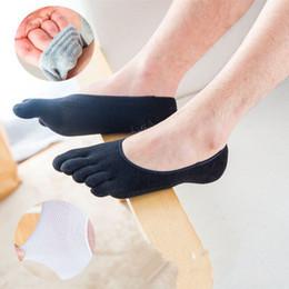 носки с низким вырезом Скидка Лодыжки Мужские Лодочные Носки Пять Пальцев Пальцев Носка Хлопок Низкий Cut Спортивные Носки Свободный Размер Мода 10 Цвет Спортивный