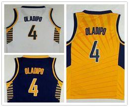 Wholesale Victor Shirt - NCAA Wholesale Free Shipping 2018 New Mens fan New Victor Oladipo jerseys Stitched 4 Victor Oladipo Basketball jersey White shirt