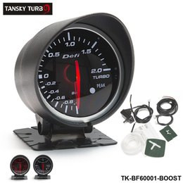 Medidores de carro branco on-line-Tansky - MEDIDOR / MEDIDOR DE CARROS Defi 60MM MEDIDOR DE IMPULSO (luz: vermelho-branco) Caixa de cor original Black Bracket TK-BF60001-BOOST