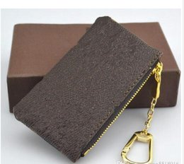 Wholesale Men Leather Wallet Coin Pouch - Free Shipping! Luxury designer Women Men Key Pouch Mens zip Wallet Coin Leather Wallets purse 62650