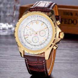 relógio navitimer Desconto 2018 Top Quality New Marca automático dos homens Relógio de Pulso NAVITIMER Ouro marrom Couro 1884 Moda Masculina relógio Esporte relógios
