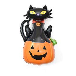 giocattoli della ragazza del ragno Sconti Halloween Aluminium Balloon Children Party Festival Ispessimento Ghost Devil Pumpkin Spider Skull Pattern Balloon Ragazzi Ragazze Toy