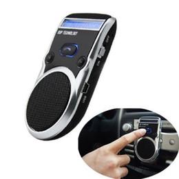 2019 altavoces con energía solar Altavoz con dispositivo de llamada de manos libres para dispositivo de automóvil Bluetooth para automóvil con pantalla LCD altavoces con energía solar baratos
