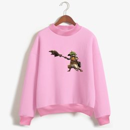 Wholesale Japanese Women S Fashion - Frdun Tommy Monster Hunter World Cat Capless Sweatshirt Women Japanese Game Mens Fashion Capless Sweatshirt Casual Clothes