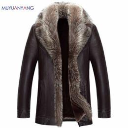 Jackets & Coats Artificial Fur Coat 2019 Winter Mens Faux Fur Coats Jackets Parka Windbreaker Two Ways Wear Plus Size Long Fur Overcoat S71