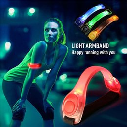 Wholesale Running Reflective Bands - Flashing LED Safety Night Reflective Belt Strap Arm Band Armband Cycling Running Sports Safety Outdoor Sports Durable Good Quality