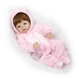Wholesale Pink Bebe - 22inch Reborn Baby Girl Doll Full Vinyl Body Doll Pink Soft Bebe Reborn Menina de Silicone Menina 55cm Baby Girl Brinquedos