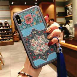 1 PC Pour iphone Xs MAX Cas À La Main Arc Strass Et Diamant Cristal Couverture Fleur Cas de téléphone pour IPhone Xr Xs 8 7 6S 6 Plus 3D Emboss ? partir de fabricateur