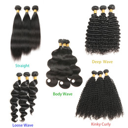 Péruvienne Indien Malaisienne Cambodgienne Brésilienne Vierge Cheveux Weave Bundles Straight Body Vague Lâche Eau Vague Profonde Bouclés Extensions de Cheveux Humains ? partir de fabricateur