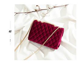 Wholesale Beautiful Leather Handbags - 2018 New Elegant villus beautiful metal lock&chain colourful ladies genuine leather bag small size Cross Body women handbags
