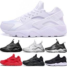 check out 4c31e 2e823 Nike Air huarache 4 IV 1 Uomo Donna Scarpe da corsa Ultra Triple Nero Bianco  Rosso Oreo Huaraches Designer Scarpe da ginnastica Sport Sneaker Spedizione  ...