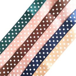Argentina Cinta de cinta con puntos impresos ancho: 25 mm DIY hecho a mano bowknot caja de regalo / ropa costura accesorios decorativos DL_RB003 Suministro