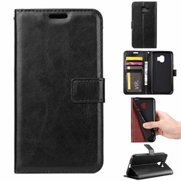 samsung galaxy core covers Coupons - Leather Wallet Case For Redmi 6 Pro Xiaomi Pocophone F1 Galaxy J2 CORE J4 J6 Plus A7 2018 LG V40 Sony XA2 Plus Retro Crazy Horse Flip Covers