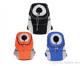 Wholesale Dog Carried - SIZE:42*38*20CM Pet Backpack Carrying Dog Bags Breathable Outdoor Travel Bag Dog Carrier Backpack Pet Dog Front Bag Double Shoulder Bag