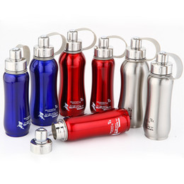 Wholesale Water Pots Kettles - 1000ml 800ml 600ml Stainless steel water bottle hermal pot portable for bicycle bottles Travel