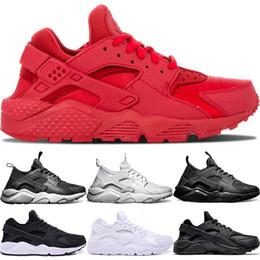 the latest 53767 32186 Nike Air Huarache Ultra Laufschuhe 4,0 1,0 Männer Frauen Dreifach Weiß Kern  Schwarz Rot Günstige Huaraches Herren Sportlich Sportschuh Größe 5-11  günstige ...