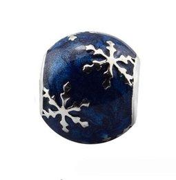 2019 gioielli di mezzanotte 100% 925 gioielli in argento sterling Glittery Midnight-Blue smalto di fascini perline adatto braccialetti Pandora donne fai gioielli fai-da-te sconti gioielli di mezzanotte