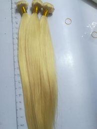 Extensiones de cabello europeo de alta calidad online-PELO ELIBESS: tramas de cabello humano en Europa 100 g / pcs 3 paquetes rubio 613 extensiones de cabello humano de alta calidad de color