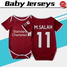 11 M.SALAH home red Baby soccer Jersey For 6 To 18 Month 18 19 Baby soccer  Shirt 2019  9 FIRMINO  15 STURRIDGE Baby Football uniforms 6352922da