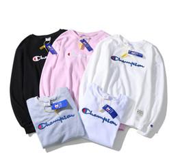 Estilos de pescoço suéter para homens on-line-2018 estilo japonês marca de manga comprida tridimensional bordado linha de rua da moda bordado em torno do pescoço homens e mulheres camisola
