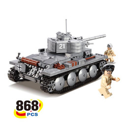 Wholesale Military Tank Toys - Christmas Toys For Child Military Tank Building Blocks Toys Blocks DIY Educational Toys For Kids Military Series