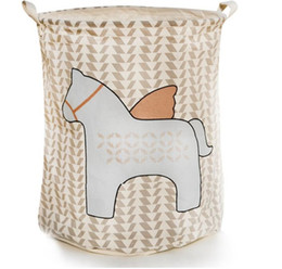 Wholesale wire basket wholesale - Portable Laundry basket 100%Coon Canvas Kids Children Toy Storage Bag Organizer Home Outdoor Extra Large Wall Pocket