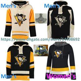 Wholesale Womens Sweatshirts Xxl - Womens Mens Pittsburgh Penguins Hoodies Sidney Crosby 58 Kris Letang 71 Evgeni Malkin 59 Jake Guentzel Customized Jersey hooded Sweatshirts