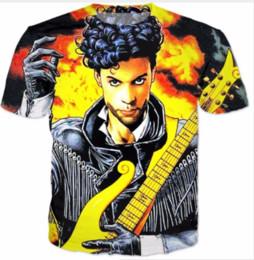 camiseta de chuva Desconto Chegada nova Dos Homens / Mulheres ROXO CHUVA Príncipe FUNNY 3D Impresso T-shirt Summe Estilo Moda Casual T-shirt U430