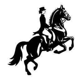Wholesale vinyl stickers car woman - Woman horse rider racing fashion car laptop refrigerator sticker CA-200