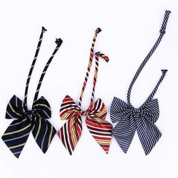 Mode Frauen Student Cosplay Uniform Schmetterling Cravat Erwachsene Formelle Anzug Zubehör Einheitsgröße Gestreifte Fliege von Fabrikanten
