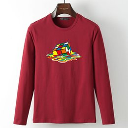 ca3a9200eb0 Chinese Hipster Magic Cube printed Tee Shirt Spring Summer Long Sleeve  Casual Cotton T Shirts Fashion