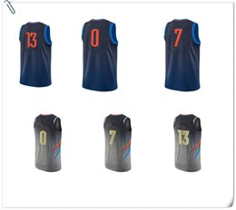 Wholesale Oklahoma City - 2018 Men Swingman city edition Jersey OKLAHOMA 100% Stitched Jerseys Cheap NCAA College mixed Order okc