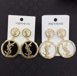 Orecchini coreani ipoallergenici online-2019 Nuova piastra nappa Coreana di alta qualità opale orecchini marchio ipoallergenico gioielli orecchini della signora A49