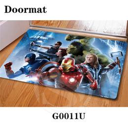 2020 impresión de alfombras personalizadas Envío gratis Custom Marvel DoorMat Art Pattern Impreso Alfombra Piso Salón Dormitorio Cool Pad Moda Alfombra SQ0626 rebajas impresión de alfombras personalizadas