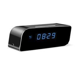 Wholesale Camera Cmos Alarm Clock - Wi-Fi Hidden Camera Clock Wireless Camera Full HD 1080P App Real-time Video Motion Detection Activated Alarm Remotely Monitoring for