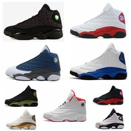 Wholesale chicago 13 - with box high quality New mens 13 Black Cat Basketball Shoes 13s White women Chicago red XIII Trainer Sneakers