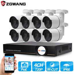 ZGWANG 8CH 720P 1MP HDMI POE NVR Kit Système de caméra de vidéosurveillance Étanche Sécurité extérieure Caméra IP Système de surveillance vidéo Ensemble ? partir de fabricateur