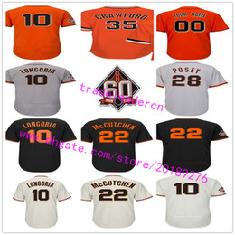 Wholesale Patches Sewn - 60th Patch 22 Andrew McCutchen Evan Longoria 28 Buster Posey Madison Bumgarner Brandon Crawford Pence Custom Any Sewn San Francisco Jerseys